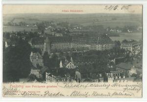Freiberg vom Petriturme gesehen & Schloss Freudenstein 1905 - Pfalz, Deutschland - Freiberg vom Petriturme gesehen & Schloss Freudenstein 1905 - Pfalz, Deutschland