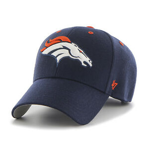 da2cedf18752e Denver Broncos '47 Brand Navy Blue Adjustable Audible 47 MVP Hat | eBay