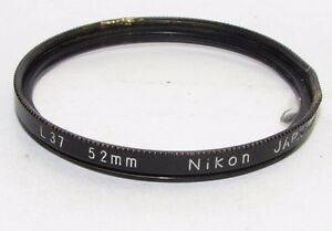 Used-Nikon-L37-UV-52mm-Lens-Filter-with-crack-and-filter-rim-damaged-S940231