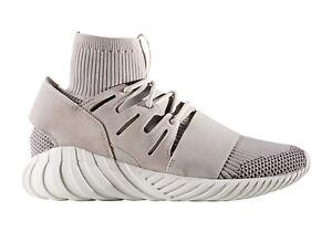 Image is loading Adidas-Tubular-Doom-Primeknit-Dark-Grey-White-size-