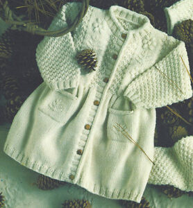Pretty-Baby-Girls-Coat-Embroidery-Detail-6-mths-2-yrs-DK-Knitting-Pattern