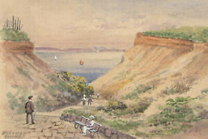Charles-T-Miles-Early-20th-Century-Watercolour-Portman-Ravine-Bournemouth