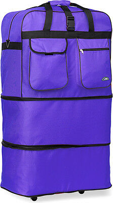 """40"""" XXL, Expandable Upright Rolling Wheeled Duffel Bag Spinner Suitcase Luggage"""