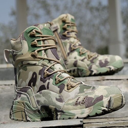 Outdoor Men/'s Camouflage Military Combat Boots Army Wilderness Survival Shoes