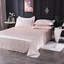 Satin-Silk-Flat-Bed-Sheet-with-Deep-Pocket-Twin-Full-Queen-King-Soft-amp-Smooth thumbnail 2