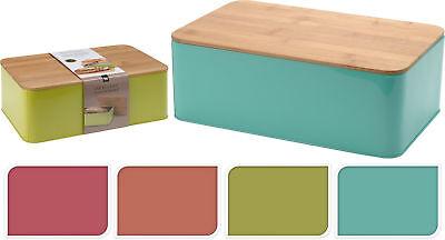 Brotkasten Brotbox Brotbehälter Brotkiste Box Behälter Metall Bambusdeckel Uni
