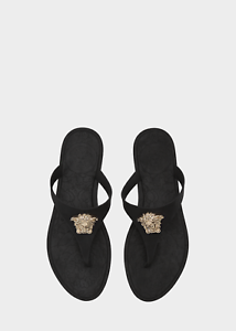 46e857e67426 Versace Palazzo Rubber Thong Sandals with Medusa Logo Made in Italy ...