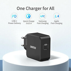 CHOETECH PD 30 W USB C Chargeur Rapide Chargeur TypC Bloc d'alimentation Adaptateur EU-Connecteur