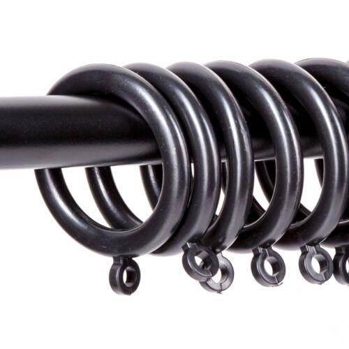 20 BLACK MODERN CURTAIN RING Eyelet Fits 28mm 35mm Pole Rail Large Drape Blind