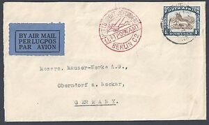 SOUTH AFRICA GERMANY 1954 AIR MAIL COVER TO BERLIN FRANKED SG 29