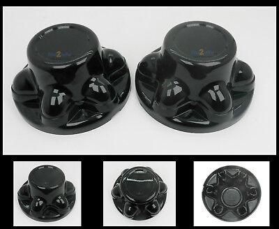 2 RV//Camper//Trailer  Chrome Plastic 5 Lug and Hub Wheel Covers 2 PACK
