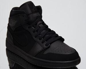 4ff249aea46a Air Jordan 1 Mid Triple Black Men s Lifestyle Shoes 2018 New ...