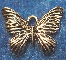 50Pcs. WHOLESALE Tibetan Silver BUTTERFLY Charms Pendants Earring Drops Q0012