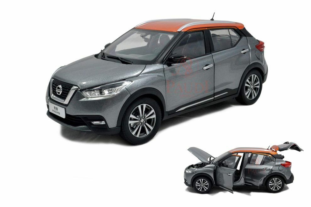 1 18 1 18 Scale Nissan Kicks 2017 Grey Diecast Model Car Paudimodel