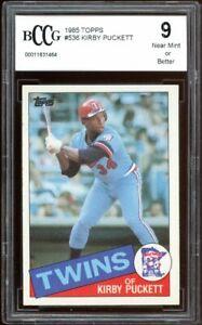 1985 Topps #536 Kirby Puckett Rookie Card BGS BCCG 9 Near Mint+