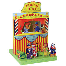 NEW PUNCH AND JUDY PLAY SET PUPPET SHOW CARD SELF ASSEMBLY VINTAGE STYLE HOM