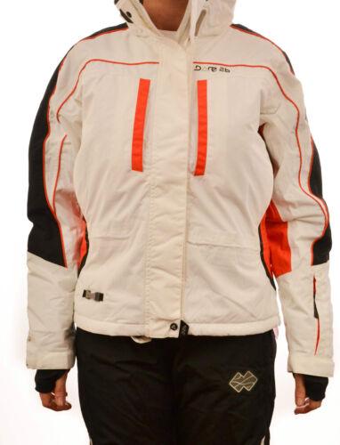 DARE 2B LADIES FIREBIRD SKI SNOWBOARD JACKET COAT WHITE WATERPROOF DWA861 ISOTEX