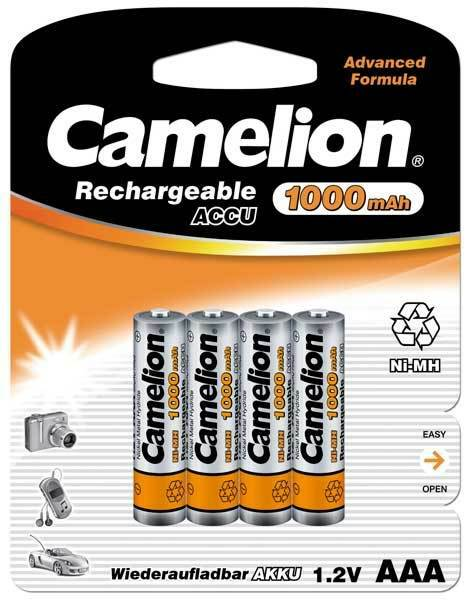 8 Pouch Battery Batteries Rechargeable AAA LR03 1000mah Camelion