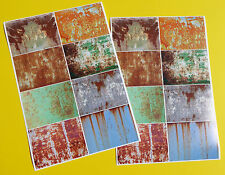 RC Vintage RUSTY PATINA panels x 2 Tamiya Sand Scorcher style Decals stickers