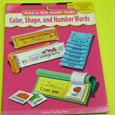 BUILD-A-SKILL INSTANT BOOKS COLOR, SHAPE, & NUMBER WORDS, BRAND NEW (B5)