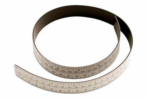 Measure Curves Flexible Powertec Magentic Ruler 605mm Metric /& Imperial Scale