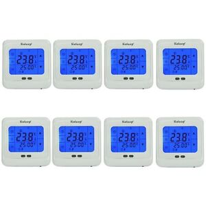 8x digital raumthermostat lcd touchscreen thermostat. Black Bedroom Furniture Sets. Home Design Ideas