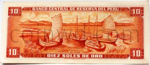 #3409 Peru 10 sol 1970 F-VF