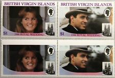 VIRGIN ISLANDS JUNGFERNINSELN 1986 552-53 539-40 VARITY ABART Royal Wedding MNH