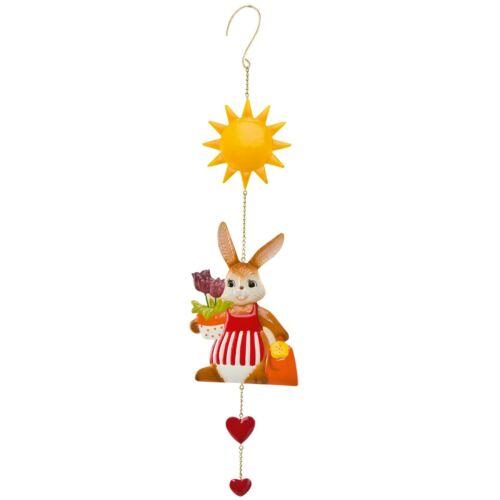 Goebel petite jardinière métal remorque offre lapin Göbel Pâques goebelhase