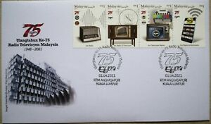 Malaysia FDC with Stamps (01.04.2021) - 75th ANNIVERSARY OF RTM 1946 - 2021