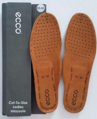ECCO Women/'s insoles Einlegesohlen CutToSize tan leather//foam EU35-38