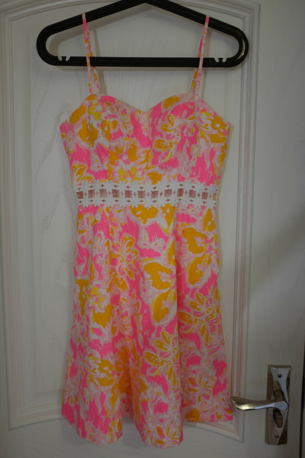 Clearance Clearance Clearance  LILLY PULITZER LENORE LACE CUT-OUT SUNDRESS Dress 0-12 2a4762