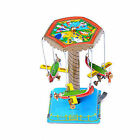 Vintage Wind up Toys Gift Fairground Carousel Airplane Planes Mechanical Tin*