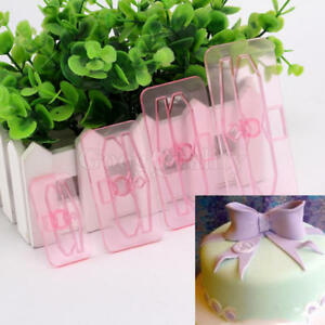 4pcs-Bow-Cake-Mould-Decor-Mold-Icing-Cookie-Sugarcraft-Fondant-Embosser-Cutter
