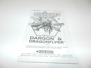 Dragon-amp-Dragonflyer-Manual-Booklet-Only-Sectaurs-Warriors-of-Symbion-Coleco-OEM