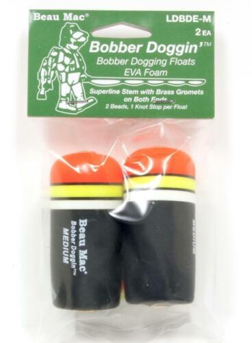 Package Of 2 Beau Mac Bobber Doggin EVA Foam Fishing Floats Medium