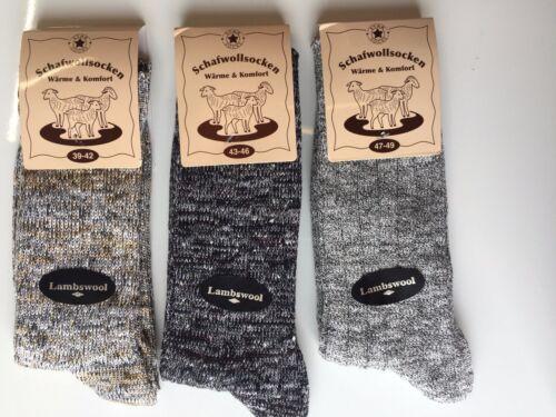 3 Pairs Men/'s Thick Chunky Wool Work Hiking Boot Socks Size UK 6-11 BNJKMHG