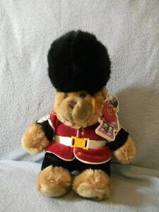 12-034-Plush-Guardsman-Teddy-Bear-by-Keel-Toys-2005-with-tags