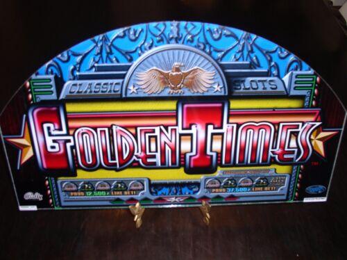BOXCAR BONUS GOLDEN TIMES SLOT MACHINE GLASS ~ RISQUE BUSINESS