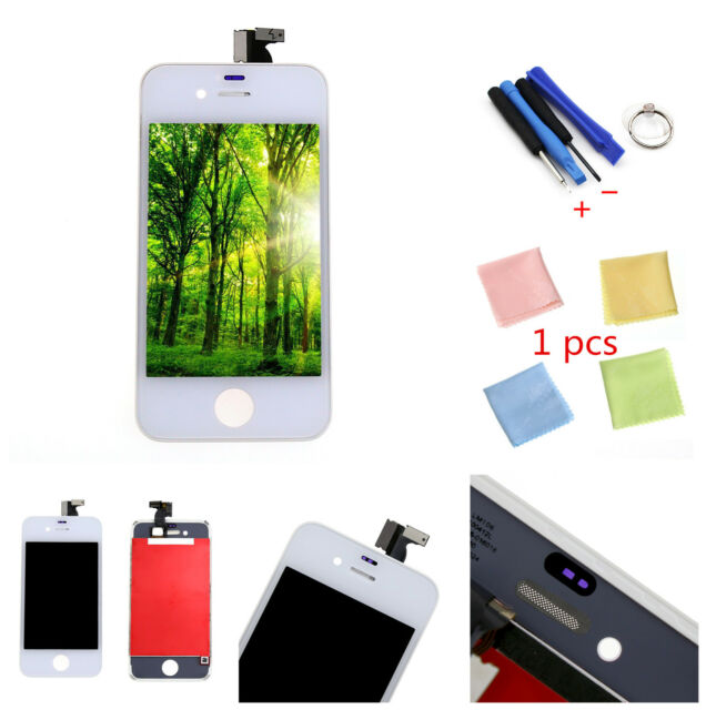 LCD Touch Screen Digitizer Front Glass Assembly Replacement for iPhone 4S White