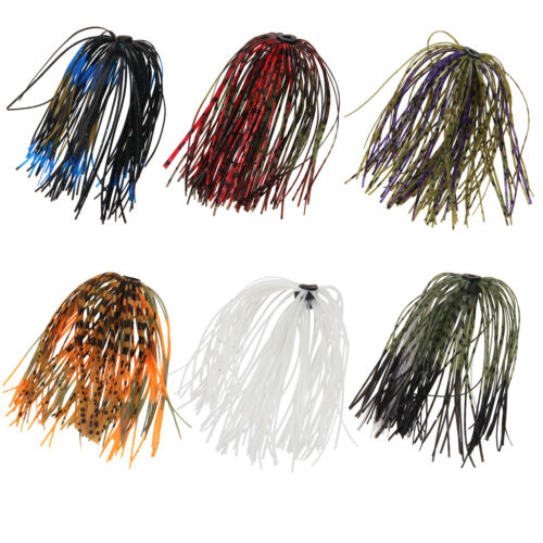 6//12//24 Bundles Bass Jig Skirts 50 Strands Fishing Jig Lures Tackle Replacement