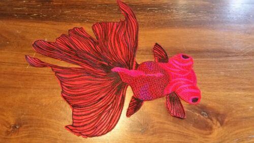 XL-parche rojo pez dorado koikarpfen pescado Patch aplicación