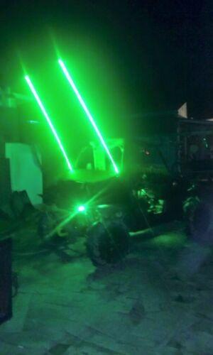 PAIR 2ft quick disconnect green LED light whip SXS ATV UTV rzr 4 wheeler TERYX
