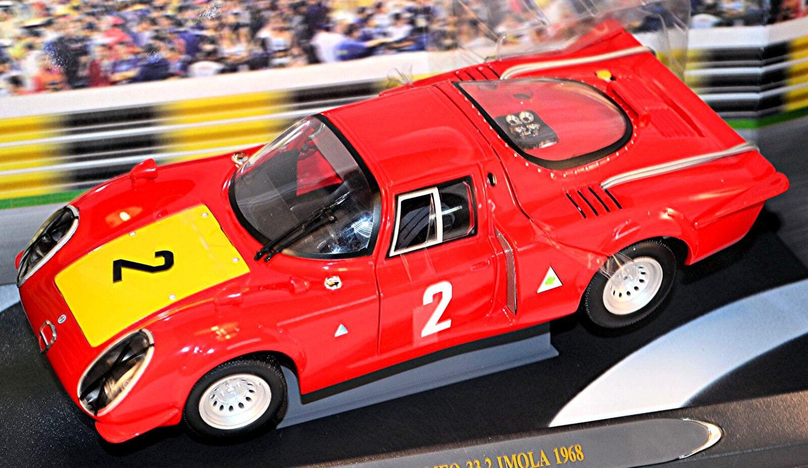 ALFA ROMEO 33.2 33.2 33.2 DAYTONA Coupé  2 IMOLA 1968 Rojo Rojo 1 18 ricko e9d01b