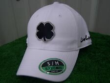 a0cbb0315a9 Black Clover Live Lucky White   Black Golf Hat Cap Fitted Small   Medium  NEW S