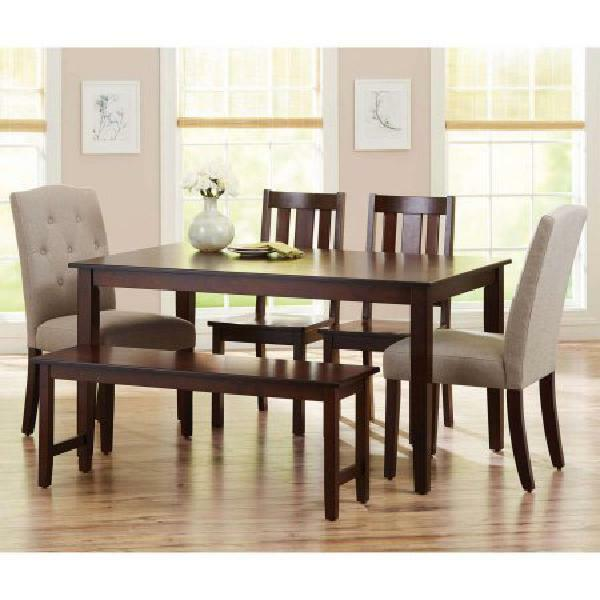 Solid Wood Dining Table Rectangular 6