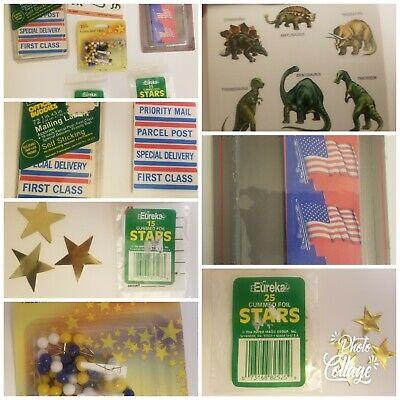 Vintage Stickers RANDOM LOT OF 10 Sandylion Eureka Hallmark Sparkle Mixed VTG