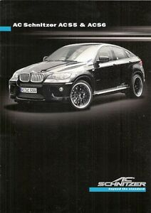 Details About Ac Schnitzer Bmw X5 X6 2009 Uk Market Sales Brochure Acs5 Acs6 Falcon