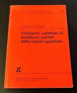 Similarity-Solutions-of-Nonlinear-Partial-Differential-Equations-L-Dresner