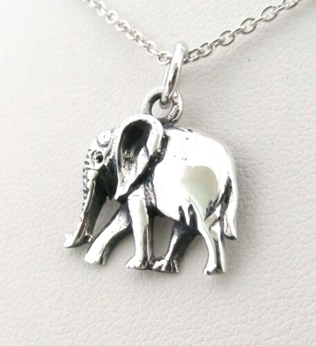 Solid 925 Sterling Silver Sweet Elephant Pendant WITHOUT Silver Chain Necklace